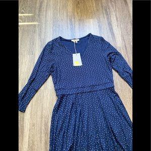 Boden polka dot maxi dress